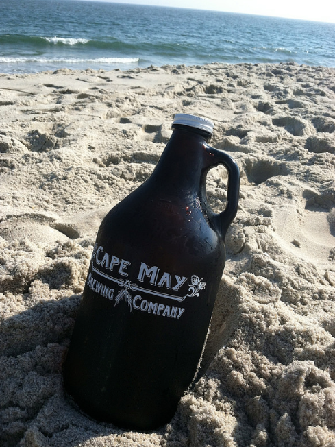 CMB growler on the beach