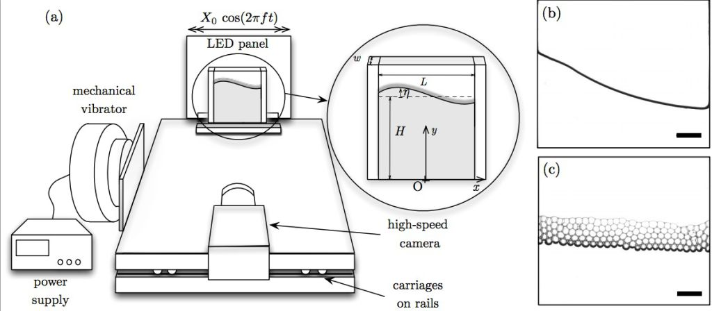 The high-tech slosh tester. Image courtesy of The Physics of Fluids Journal.