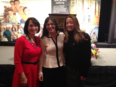 Business partners Victoria Felman-Defalco and Christina Miranda pose for a photo at the Governor's Conference on Tourism with our girl Alicia.