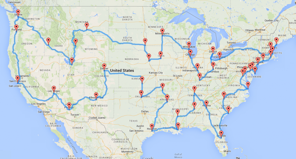 Your ultimate road trip.  Image courtesy of randalolson.com