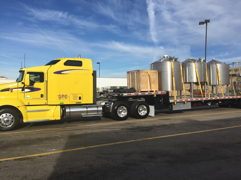 Our brew house at the very beginning of her trip, in Barstow, California. Image courtesy of David  Cook.