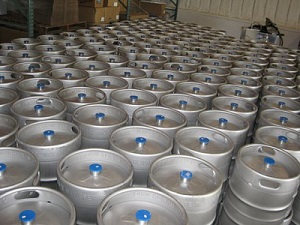 A sea of kegs