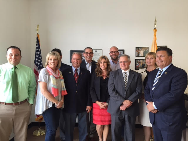 Ryan meets with some of Jersey's movers and shakers, including Lieutenant Governor Kim Guadagno and Assemblyman Sam Fiocchi.