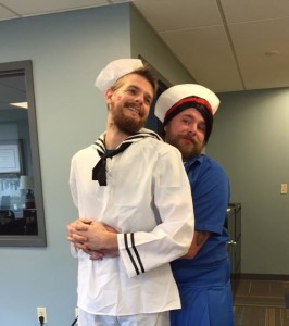 Dan (left) with CMBC's Jim Zolna last Halloween.