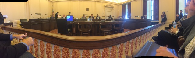 A panoramic view of where the magic happens: NJ's Senate office.