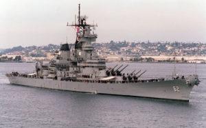 Battleship New Jersey in December, 1985