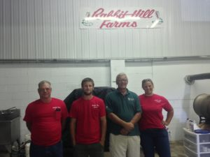 Robert Reed, Blair Bakker, Abe Bakker, and Hillary Barile of Rabbit Hill Farms